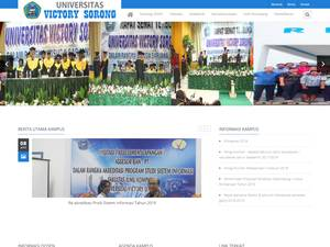 Universitas Victory Sorong's Website Screenshot