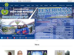 Universitas Widya Gama Mahakam Samarinda Screenshot