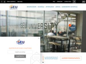 National Teaching University SEU's Website Screenshot