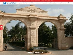 Charotar University of Science and Technology's Website Screenshot
