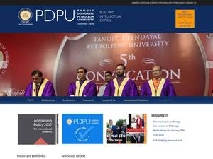 Pandit Deendayal Petroleum University Screenshot