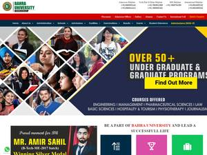 BAHRA University's Website Screenshot