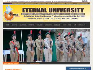 Eternal University's Website Screenshot