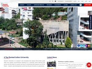 Shoolini University of Biotechnology and Management Sciences's Website Screenshot