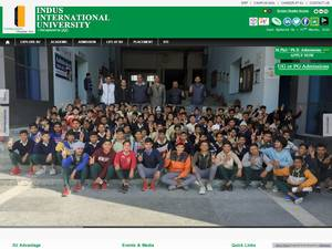 Indus International University's Website Screenshot