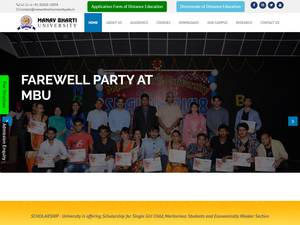 Manav Bharti University's Website Screenshot
