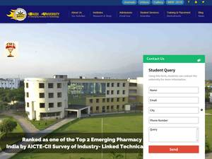 Baddi University of Emerging Sciences and Technologies's Website Screenshot