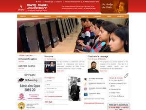 Sri Sai University's Website Screenshot