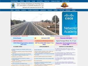 Jaypee University of Engineering and Technology's Website Screenshot