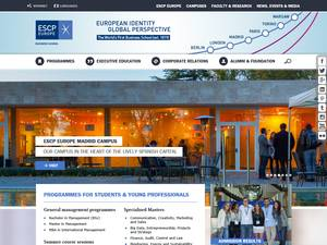 ESCP Europe's Website Screenshot