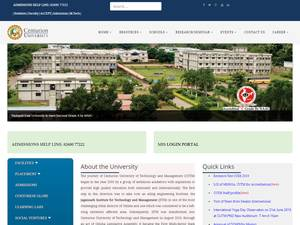 Centurion University of Technology and Management's Website Screenshot
