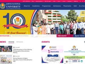 Jaipur National University's Website Screenshot
