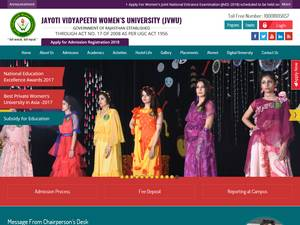 Jayoti Vidyapeeth Women's University Screenshot