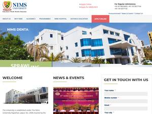 NIMS University Screenshot