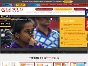 Galgotias University's Website Screenshot