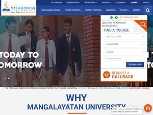 Mangalayatan University Screenshot