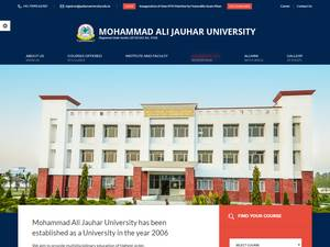 Mohammad Ali Jauhar University Screenshot
