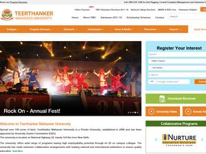 Teerthanker Mahaveer University's Website Screenshot