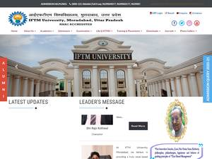 IFTM University's Website Screenshot