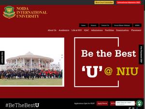 Noida International University's Website Screenshot