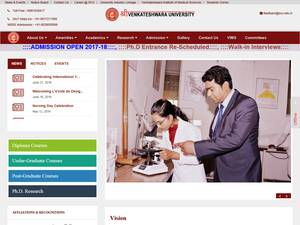 Shri Venkateshwara University's Website Screenshot