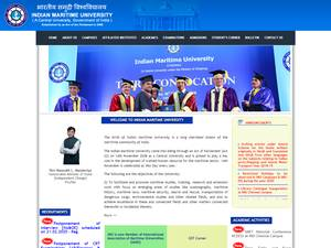Indian Maritime University Screenshot
