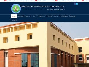 Damodaram Sanjivayya National Law University's Website Screenshot
