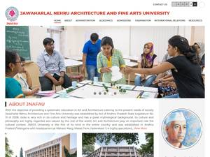 Jawaharlal Nehru Architecture and Fine Arts University's Website Screenshot
