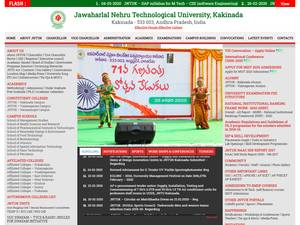 Jawaharlal Nehru Technological University, Kakinada Screenshot