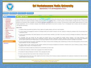 Sri Venkateswara Vedic University's Website Screenshot