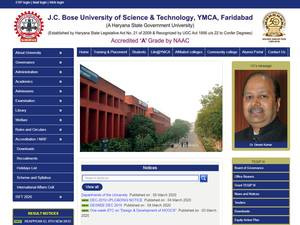 YMCA University of Science and Technology's Website Screenshot