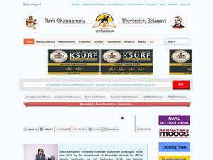 Rani Channamma University, Belagavi's Website Screenshot