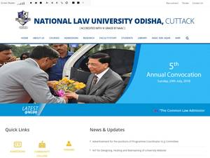 National Law University, Orissa's Website Screenshot
