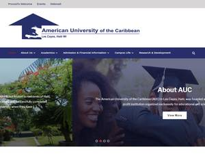 American University of the Caribbean's Website Screenshot
