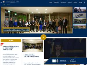 The American University of Iraq, Sulaimani's Website Screenshot