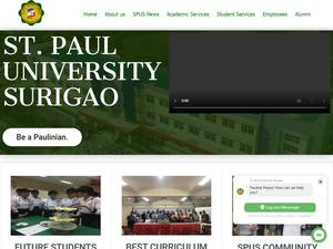 St. Paul University Surigao's Website Screenshot