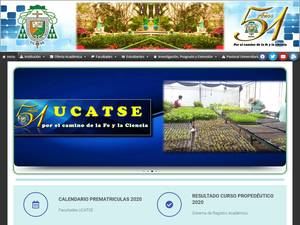 Universidad Católica Agropecuaria del Trópico Seco Screenshot