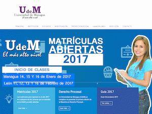 Universidad de Managua Screenshot