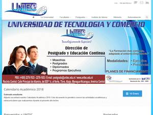 Universidad de Tecnología y Comercio's Website Screenshot