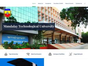 Mandalay Technological University's Website Screenshot