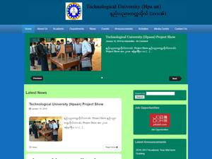 Technological University, Hpaan's Website Screenshot
