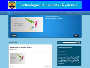 Kyaukse Technological University's Website Screenshot