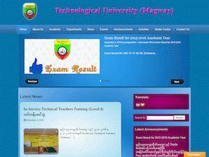 Technological University, Magway's Website Screenshot