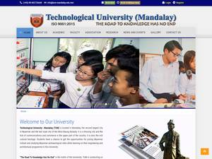 Technological University, Mandalay's Website Screenshot