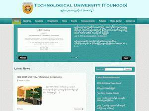 Technological University, Taungoo's Website Screenshot