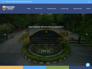 West Yangon Technological University's Website Screenshot