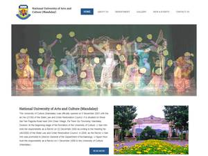 National University of Arts and Culture, Mandalay's Website Screenshot