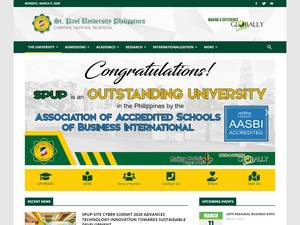 St. Paul University Philippines's Website Screenshot