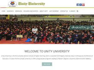 Unity University's Website Screenshot