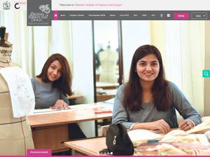 Pakistan Institute of Fashion and Design's Website Screenshot